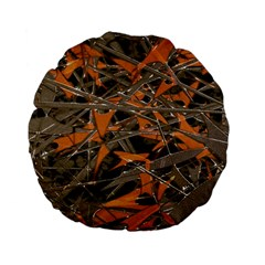 Intricate Abstract Print Standard 15  Premium Flano Round Cushion