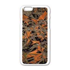 Intricate Abstract Print Apple iPhone 6 White Enamel Case