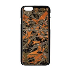 Intricate Abstract Print Apple iPhone 6 Black Enamel Case