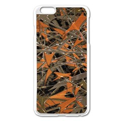 Intricate Abstract Print Apple Iphone 6 Plus Enamel White Case