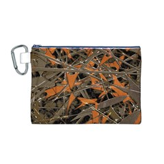 Intricate Abstract Print Canvas Cosmetic Bag (Medium)