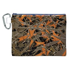 Intricate Abstract Print Canvas Cosmetic Bag (XXL)
