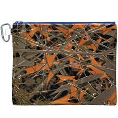 Intricate Abstract Print Canvas Cosmetic Bag (xxxl)
