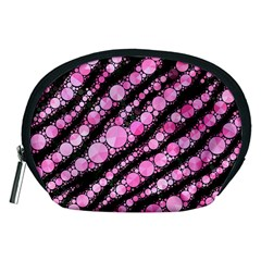 Pink Black Tiger Bling  Accessory Pouch (Medium)