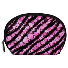 Pink Black Tiger Bling  Accessory Pouch (large)