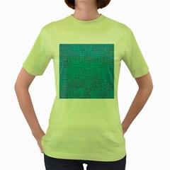 Textured Blue & Purple Abstract Women s T-shirt (Green)