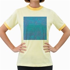 Textured Blue & Purple Abstract Women s Ringer T-shirt (Colored)
