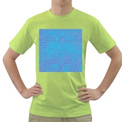 Textured Blue & Purple Abstract Men s T Shirt (green)