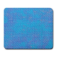 Textured Blue & Purple Abstract Large Mouse Pad (rectangle)