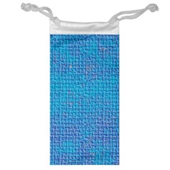 Textured Blue & Purple Abstract Jewelry Bag