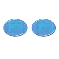 Textured Blue & Purple Abstract Cufflinks (oval)