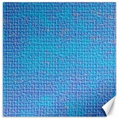 Textured Blue & Purple Abstract Canvas 12  X 12  (unframed)