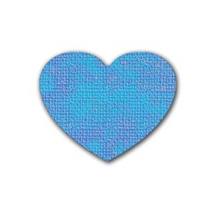 Textured Blue & Purple Abstract Drink Coasters 4 Pack (heart)