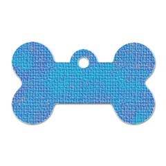Textured Blue & Purple Abstract Dog Tag Bone (one Sided)