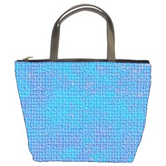 Textured Blue & Purple Abstract Bucket Handbag