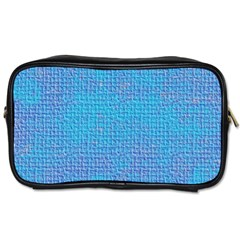Textured Blue & Purple Abstract Travel Toiletry Bag (one Side)
