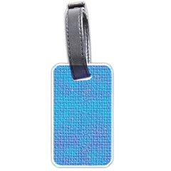Textured Blue & Purple Abstract Luggage Tag (one Side)