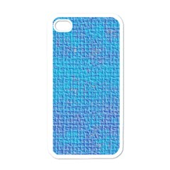 Textured Blue & Purple Abstract Apple Iphone 4 Case (white)