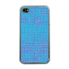 Textured Blue & Purple Abstract Apple Iphone 4 Case (clear)