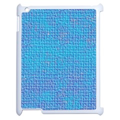 Textured Blue & Purple Abstract Apple Ipad 2 Case (white)