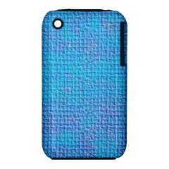 Textured Blue & Purple Abstract Apple Iphone 3g/3gs Hardshell Case (pc+silicone)