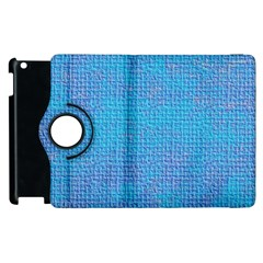 Textured Blue & Purple Abstract Apple Ipad 3/4 Flip 360 Case