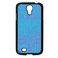 Textured Blue & Purple Abstract Samsung Galaxy S4 I9500/ I9505 Case (black)