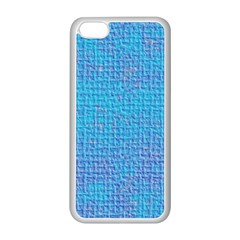 Textured Blue & Purple Abstract Apple Iphone 5c Seamless Case (white)