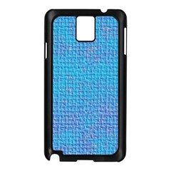 Textured Blue & Purple Abstract Samsung Galaxy Note 3 N9005 Case (black)