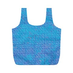 Textured Blue & Purple Abstract Reusable Bag (M)