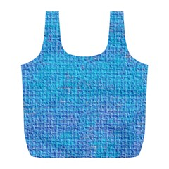 Textured Blue & Purple Abstract Reusable Bag (l)