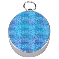 Textured Blue & Purple Abstract Silver Compass