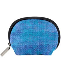 Textured Blue & Purple Abstract Accessory Pouch (Small)