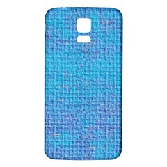 Textured Blue & Purple Abstract Samsung Galaxy S5 Back Case (White)