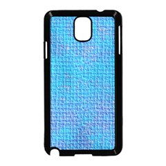Textured Blue & Purple Abstract Samsung Galaxy Note 3 Neo Hardshell Case (Black)