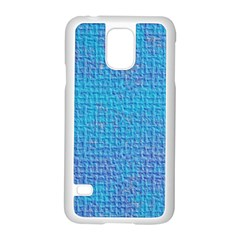 Textured Blue & Purple Abstract Samsung Galaxy S5 Case (White)