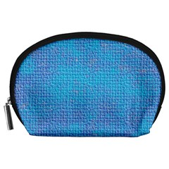 Textured Blue & Purple Abstract Accessory Pouch (large)