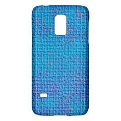 Textured Blue & Purple Abstract Samsung Galaxy S5 Mini Hardshell Case