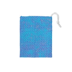 Textured Blue & Purple Abstract Drawstring Pouch (Small)