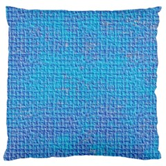Textured Blue & Purple Abstract Large Flano Cushion Case (One Side)