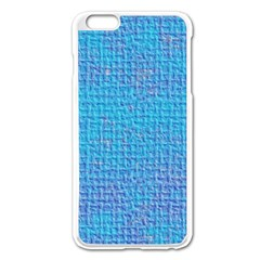 Textured Blue & Purple Abstract Apple iPhone 6 Plus Enamel White Case