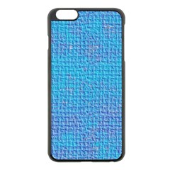 Textured Blue & Purple Abstract Apple iPhone 6 Plus Black Enamel Case