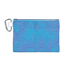 Textured Blue & Purple Abstract Canvas Cosmetic Bag (Medium)