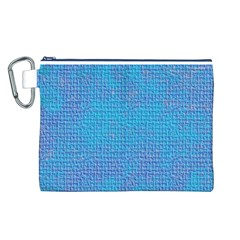 Textured Blue & Purple Abstract Canvas Cosmetic Bag (Large)