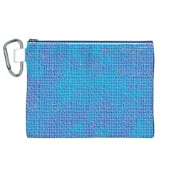 Textured Blue & Purple Abstract Canvas Cosmetic Bag (XL)
