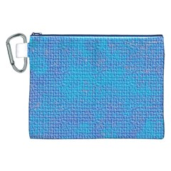 Textured Blue & Purple Abstract Canvas Cosmetic Bag (xxl)
