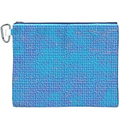 Textured Blue & Purple Abstract Canvas Cosmetic Bag (XXXL)