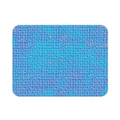 Textured Blue & Purple Abstract Double Sided Flano Blanket (mini)