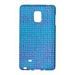 Textured Blue & Purple Abstract Samsung Galaxy Note Edge Hardshell Case