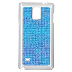 Textured Blue & Purple Abstract Samsung Galaxy Note 4 Case (white)